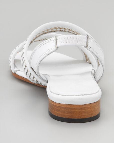 Kenna Woven Leather Slingback Sandal