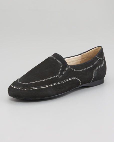 Gored Loafer Ballerina