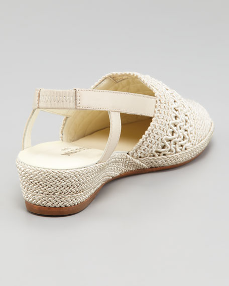 Lisa Stretch Crochet Espadrille