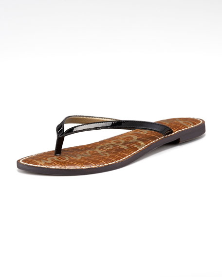 Gracie Patent Leather Thong Sandal