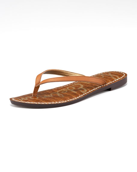 Gracie Leather Thong Sandal