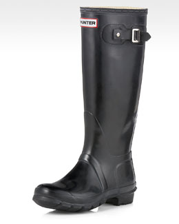 Hunter Boot Tall Gloss Boot, Black