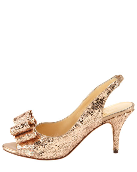 sawyer mini sequin slingback pump