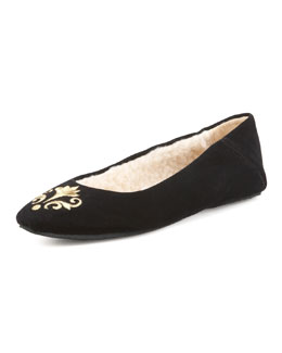 Jacques Levine Bel Esprit Velour Slipper