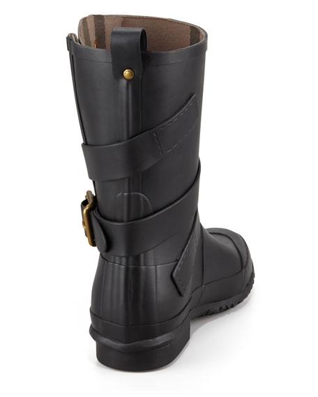 Burberry Motorcycle Rain Boot