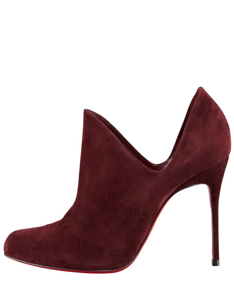 Dugueclina Side Dip Red Sole Bootie