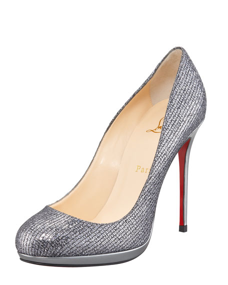 Filo Glitter Platform Red Sole Pump