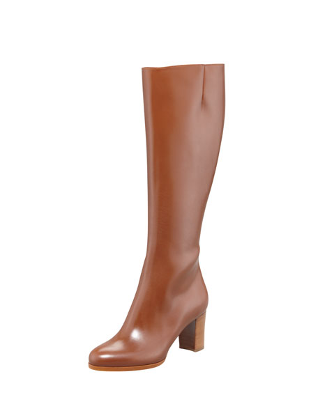 Yvonna Tall Leather Red Sole Boot