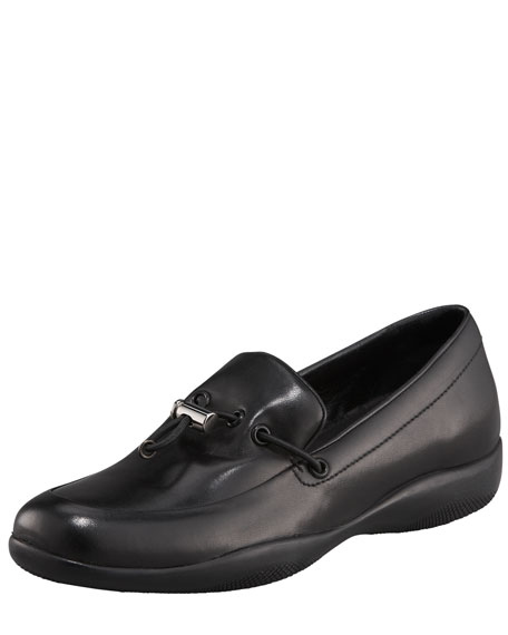 Classic Leather Toggle Loafer