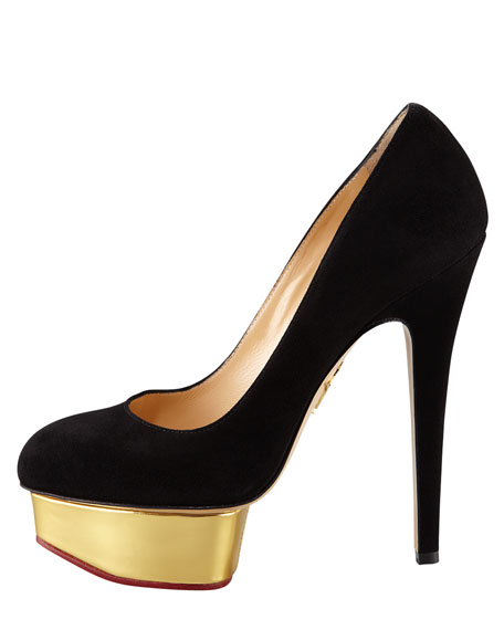 Dolly Island Platform Pump, Black