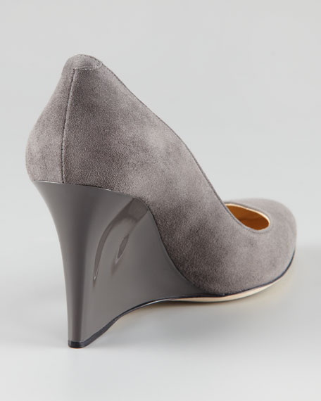 Allen Suede Wedge Pump