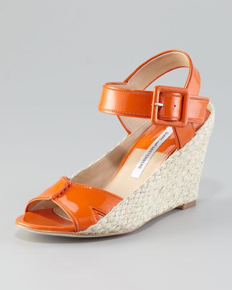 Sudan Patent Wedge Sandal