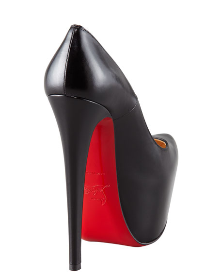 new style 14f89 7e40f Daffodil Leather Platform Red Sole Pump