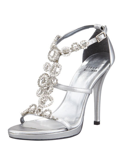 Brillag Jewel-Front Evening Sandal