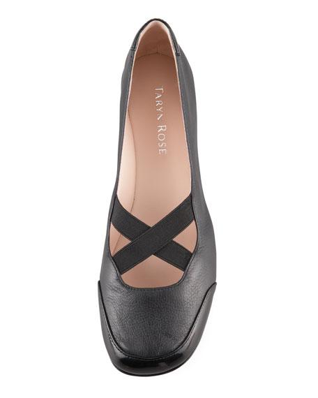 Elastic Crisscross Ballerina Flats