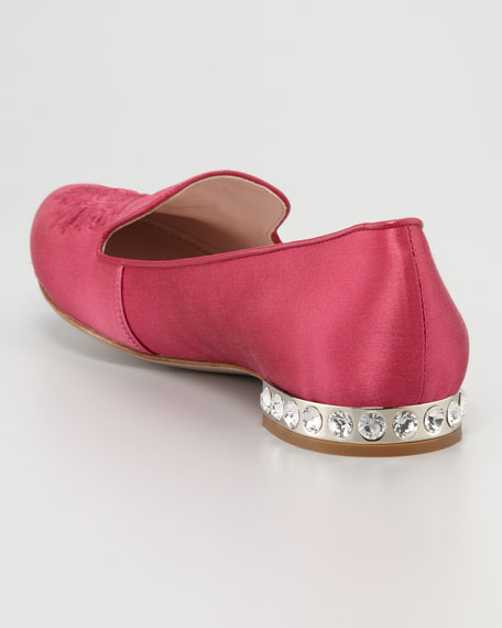 Satin Embroidered Loafer