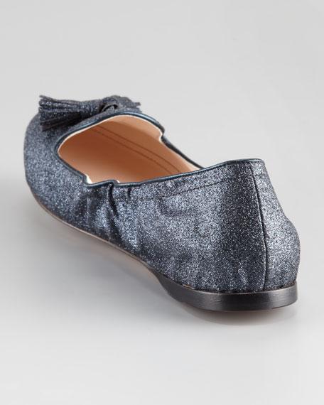 Glitter Tassel Ballerina Flat