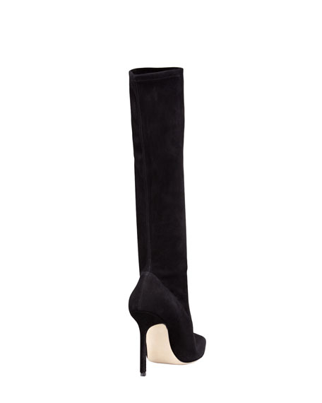 Pascalare Suede Tall Boot, Black