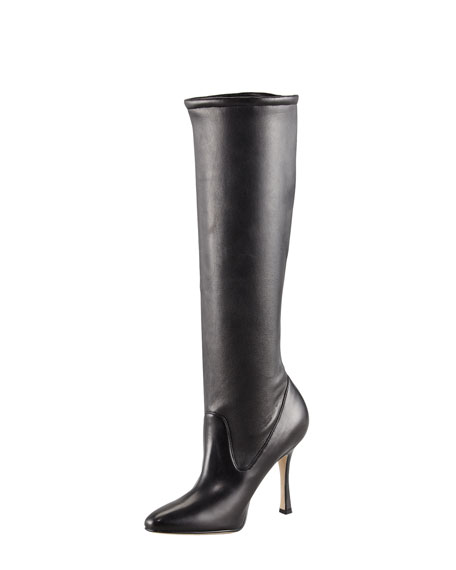 Pascalare Tall Stretch Leather Boot