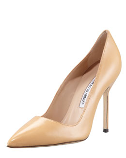 Manolo Blahnik BB Pointed-Toe Pump, Camel