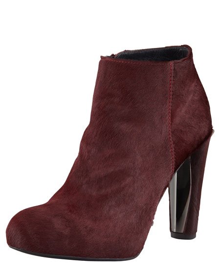 Right Calf Hair Ankle Boot