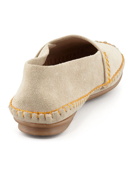 Davies Topstitched Moccasin