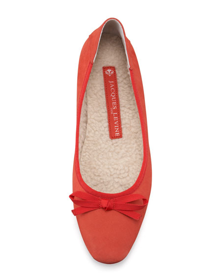 Inslee Bow Faux-Shearling Slipper