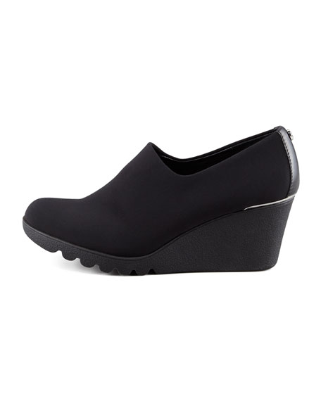 Maddy Crepe Wedge Slip-On