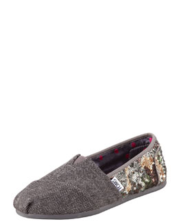 TOMS Sequin Wool Slip-On