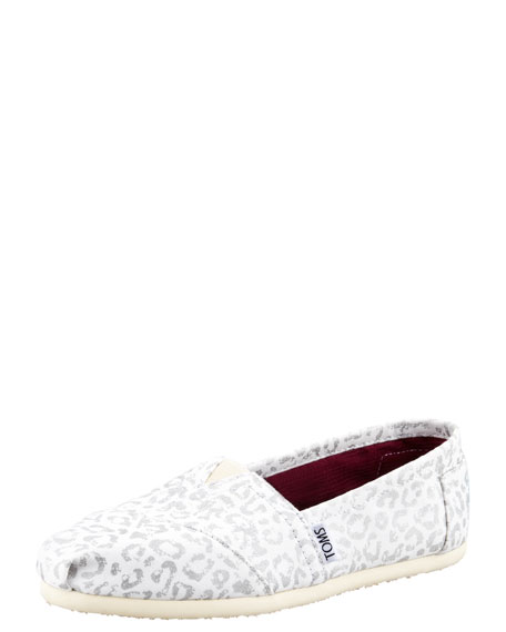 Snow-Leopard Canvas Slip-On
