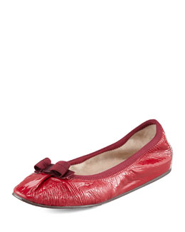 Salvatore Ferragamo My Joy Patent Leather Ballerina Flat
