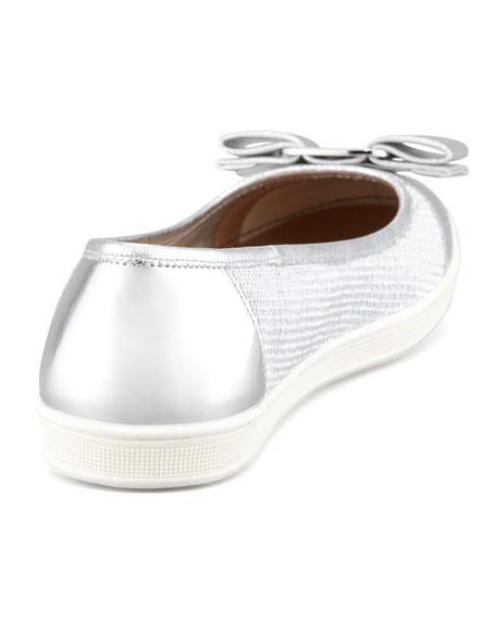 Scarlet Ballet Sneaker, Silver