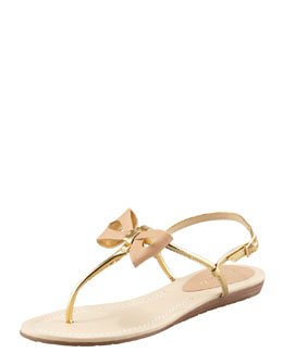 kate spade new york trendy bow thong sandal