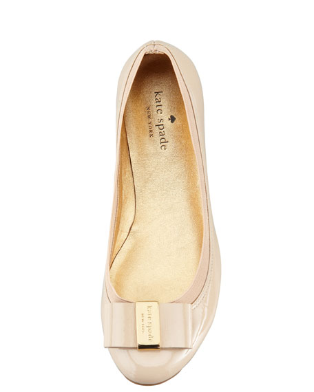 tock elastic-trim ballerina flat, doe taupe