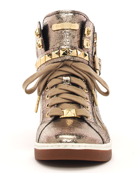 Metallic Glam Studded High-Top