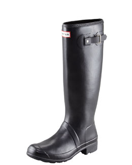 Hunter Boot Original Tour Buckled Welly Boot, Black