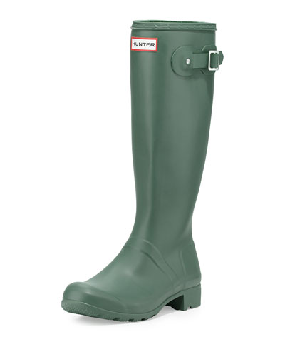 Hunter Boot Original Tour Buckled Welly Boot, Green