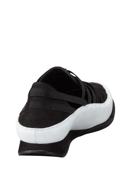Move In Strappy Elastic Sneaker, Black