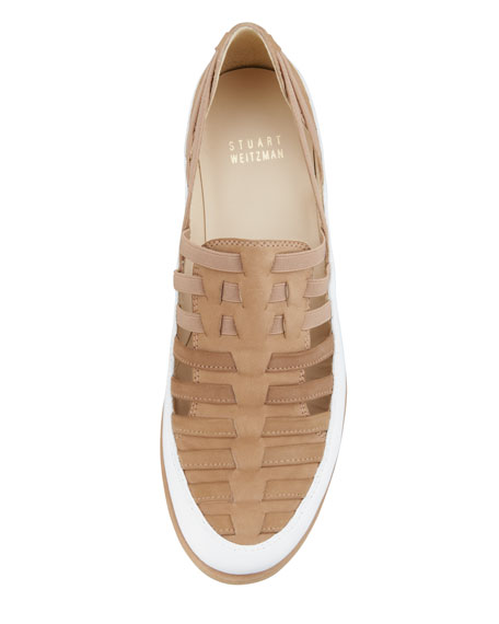 Move In Strappy Elastic Sneaker, Tan
