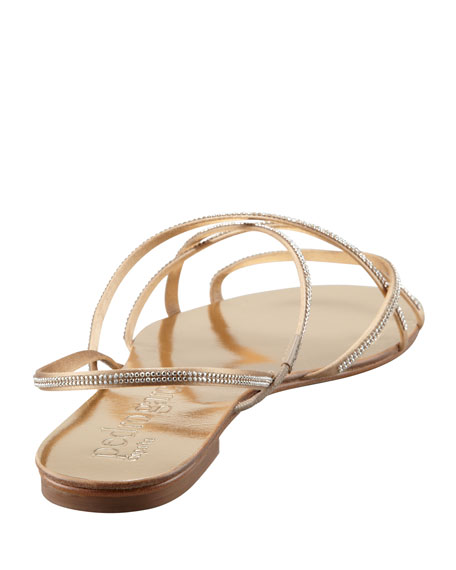 Elora Crystal-Detailed Sandal, Gold