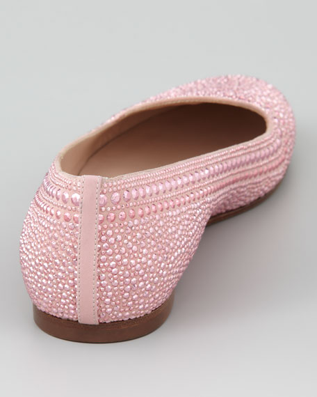 Studded Suede Smoking Slipper, Gardenia