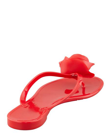 Rose Flip-Flop Sandal, Rosso