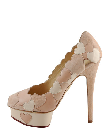 Love Me Heart-Applique Pump, Blush