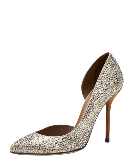 Crystal-Covered Asymmetric Pump, Champagne