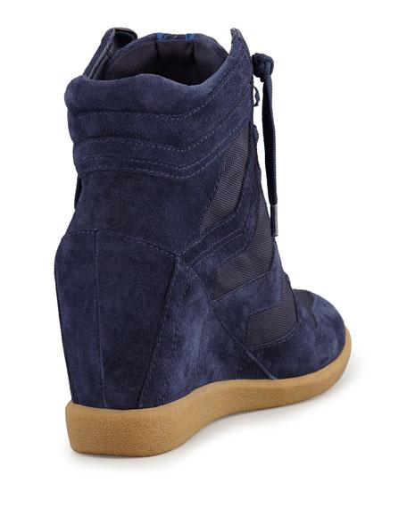 Bennett Velour Hidden Wedge Sneaker