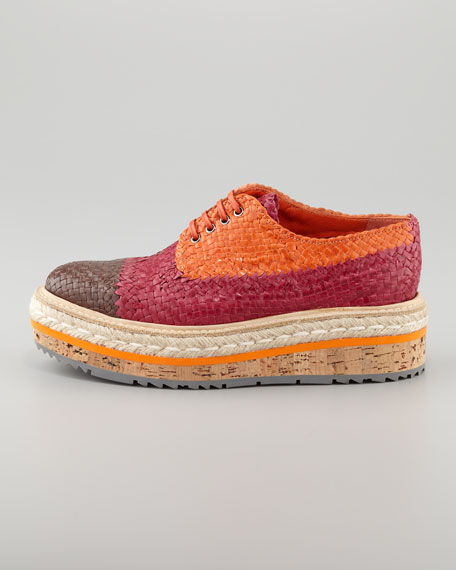 Tri-Color Woven Flatform Oxford