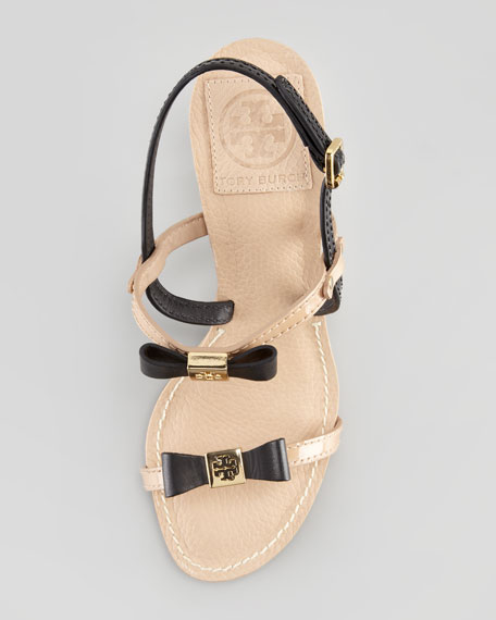 Kailey Two-Tone Bow Sandal