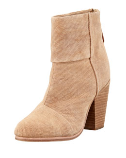 Rag & Bone Newbury Canvas Ankle Bootie, Camel