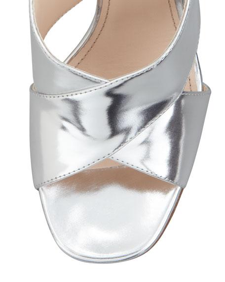 Crisscross Halter Sandal, Silver