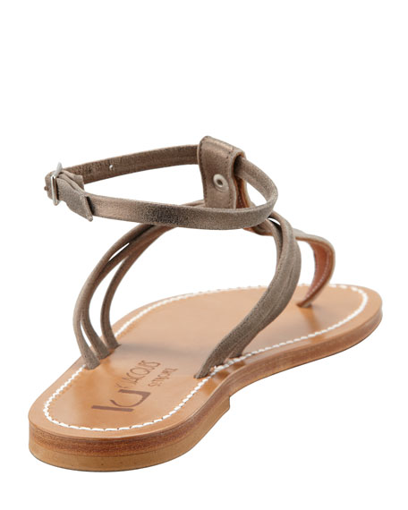 Papyrus Ankle-Strap Thong Sandal